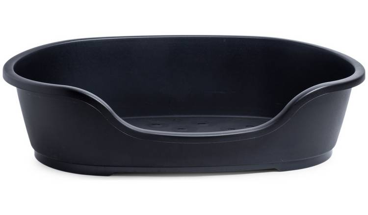 Petface Black Plastic Dog Bed - Large
