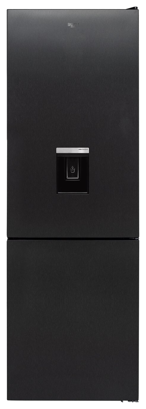 Bush FF60185WDI Frost Free Fridge Freezer - Dark Inox