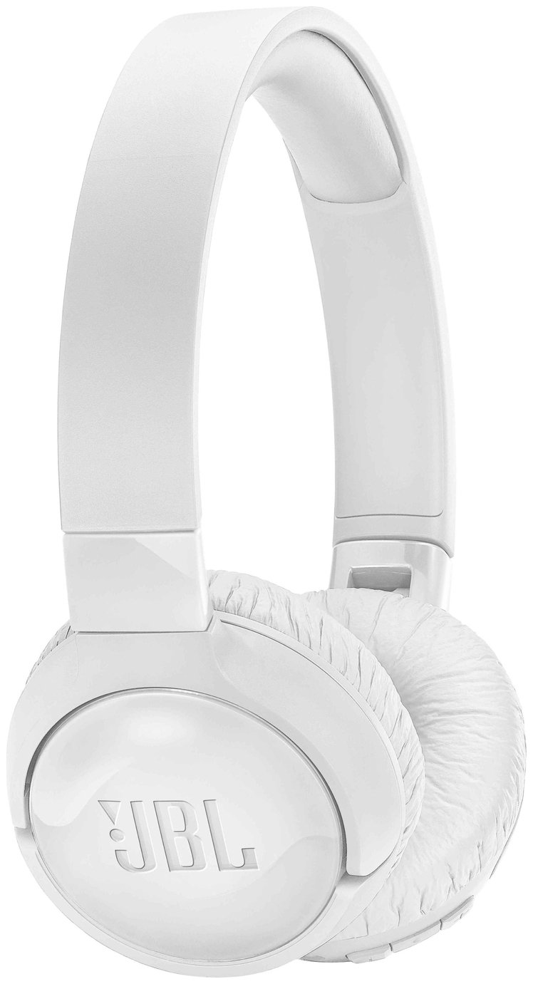 JBL T600 On-Ear Wireless ANC Headphones - White