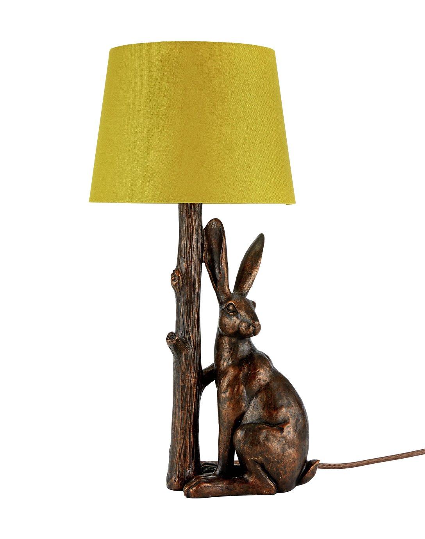 Argos Home Hare Table Lamp - Bronze & Ochre