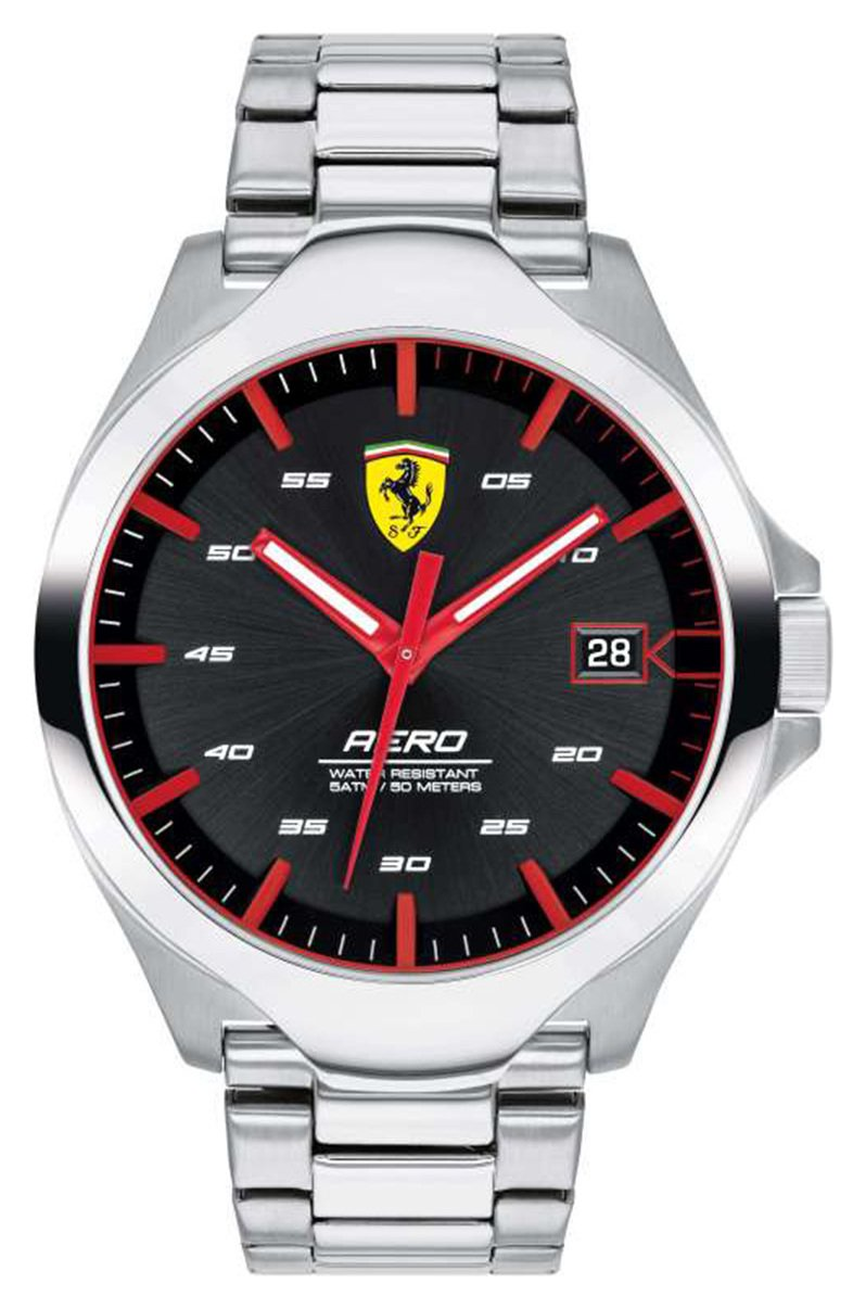Scuderia Ferrari Men's Aero Silver Stainless Steel Watch