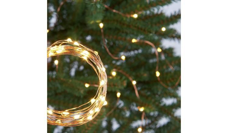 Buy Argos Home 120 Warm White Led Copper String Lights 9m Christmas Lights Argos
