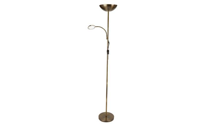Argos Home LED Father and Child Floor Lamp - Antique Brass