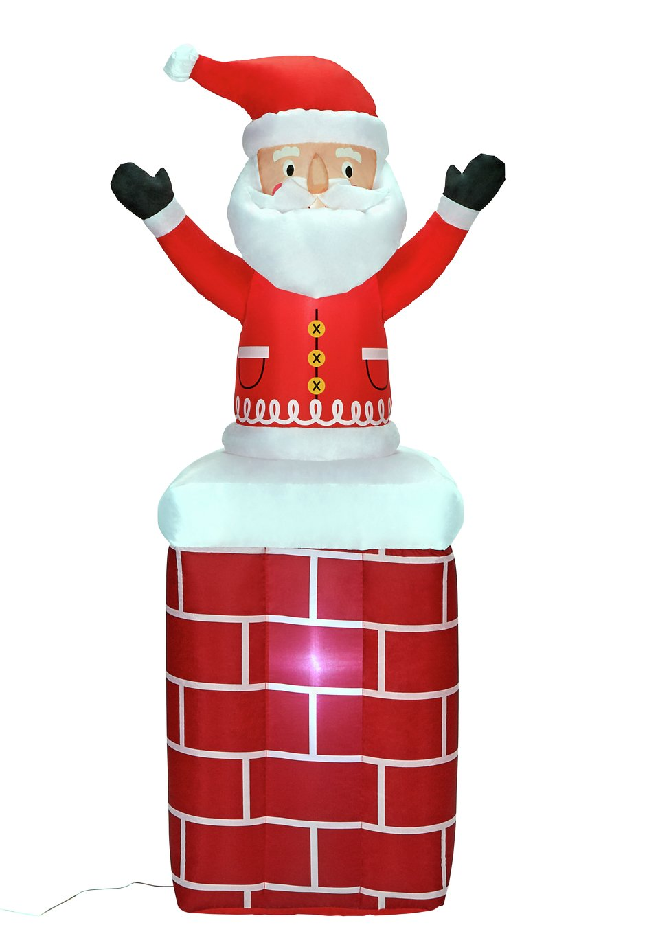Argos Home Inflatable Santa on a Chimney
