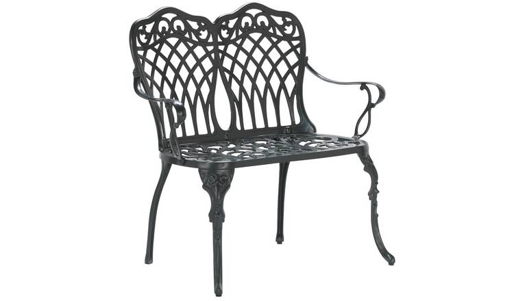 Argos Home Kensington Cast Aluminium 2 Seater Garden Bench