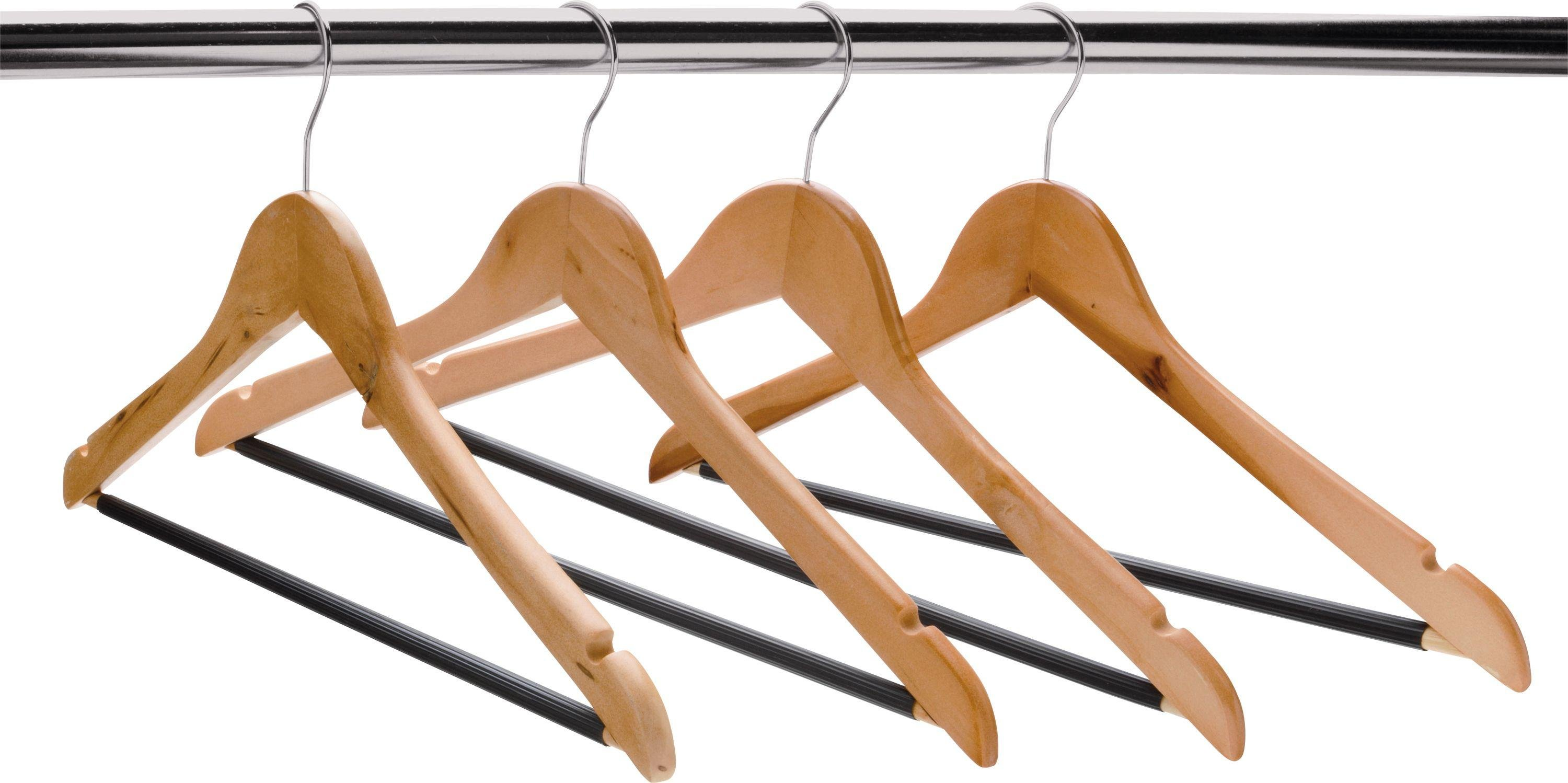 HOME - Set of 10 Wooden Hangers
