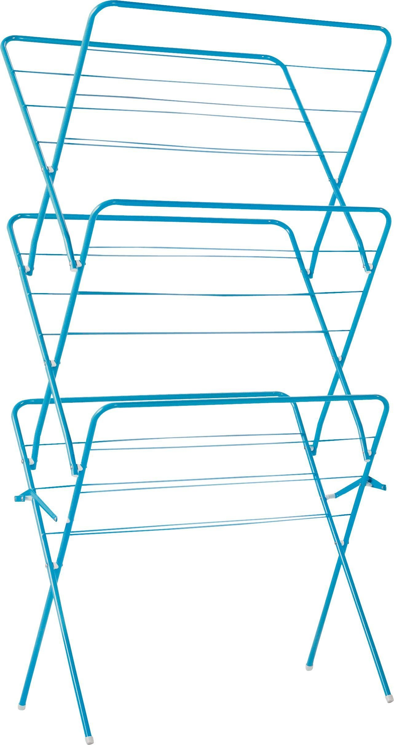 Image of ColourMatch - 15m 3 Tier Indoor Clothes Airer - Fiesta Blue