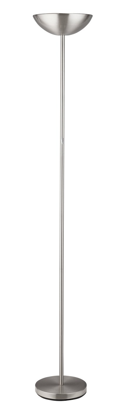 Argos Home LED Floor Lamp - Chrome