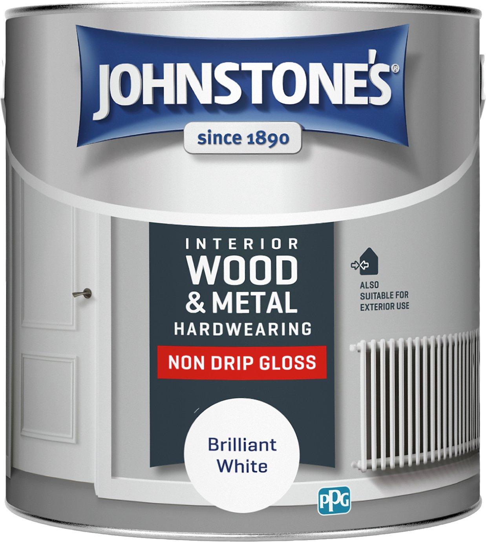 Johnstone's Non Drip Gloss Paint 2.5 Litre - White