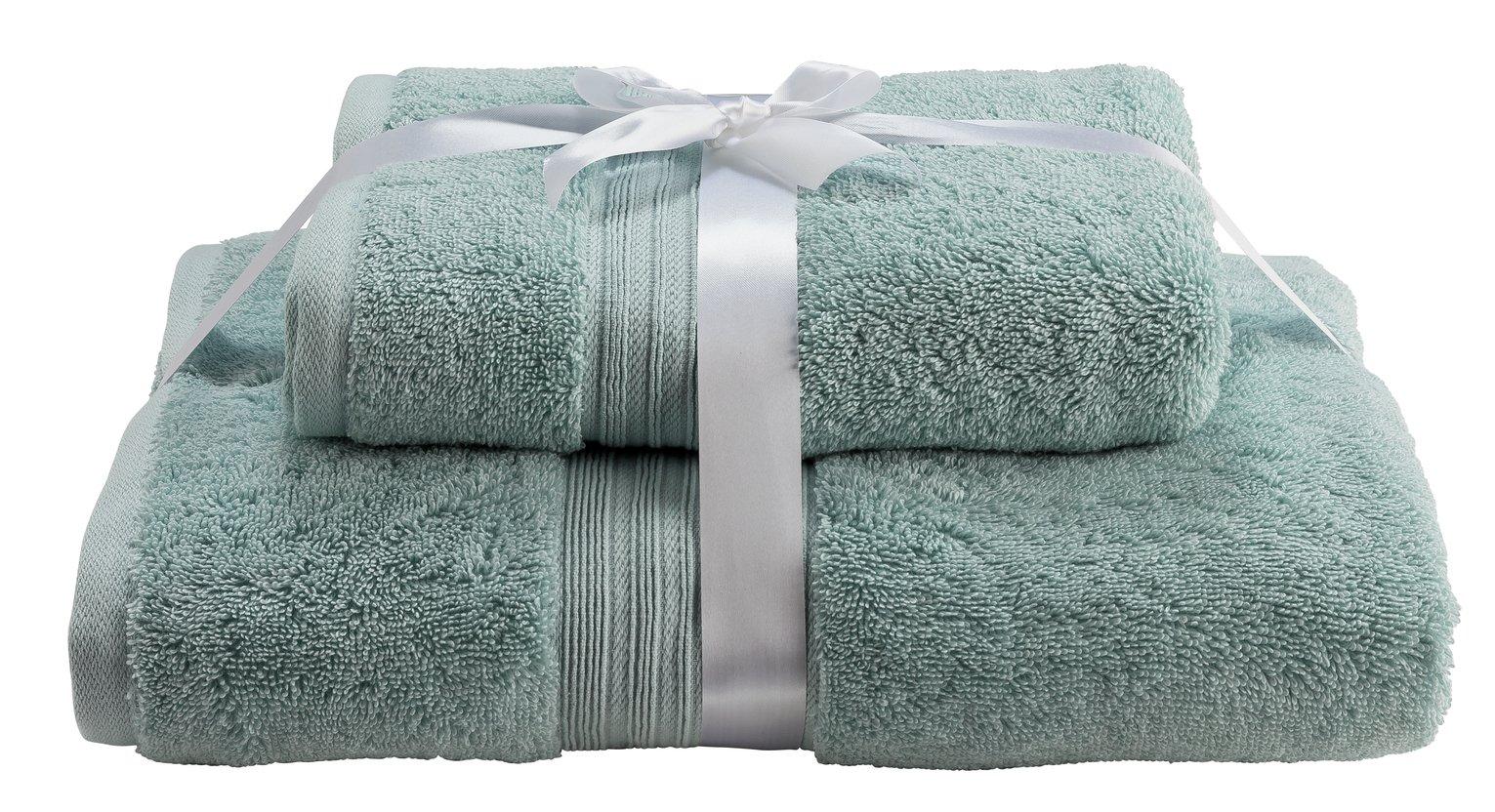 Argos Home Egyptian Cotton 2 Piece Towel Bale - Egg Shell