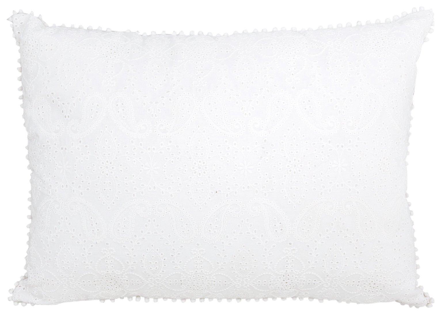 Sainsbury's Home Parisian Maison Embroidered Cushion - White