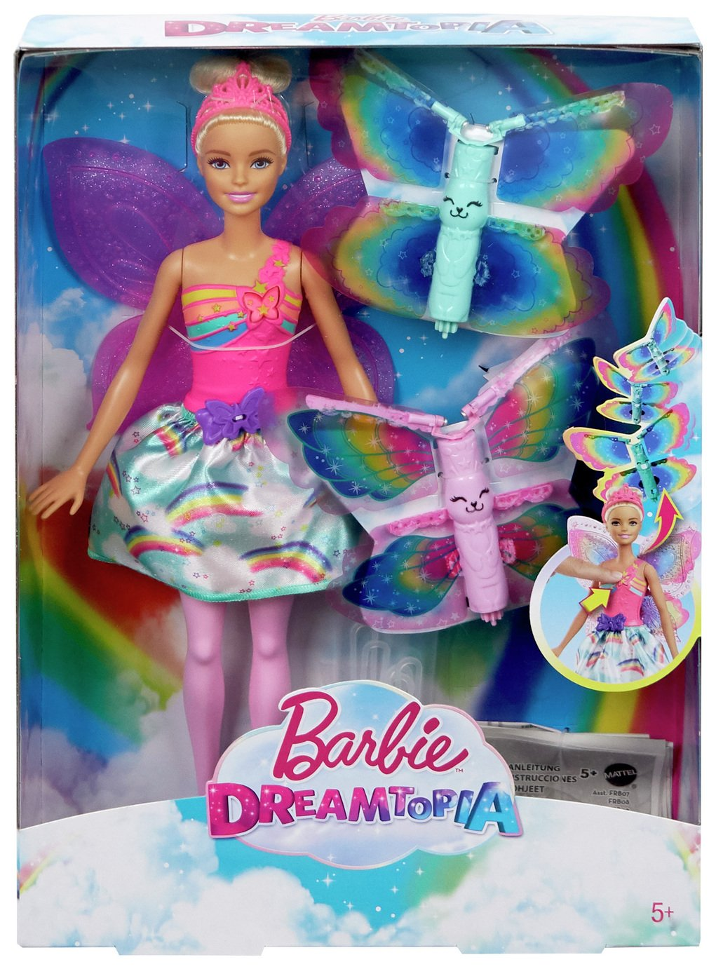 Dreamtopia Barbie Fairy Doll with Flying Wings