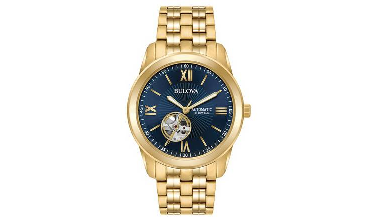 14732e96cad7 Bulova Men s Gold Plated Stainless Steel Watch. by Bulova