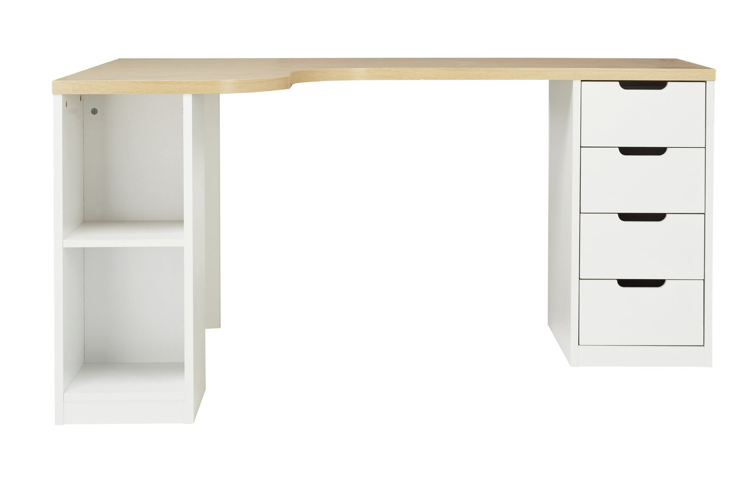 argos home large corner desk two tone 8507794 argos. Black Bedroom Furniture Sets. Home Design Ideas