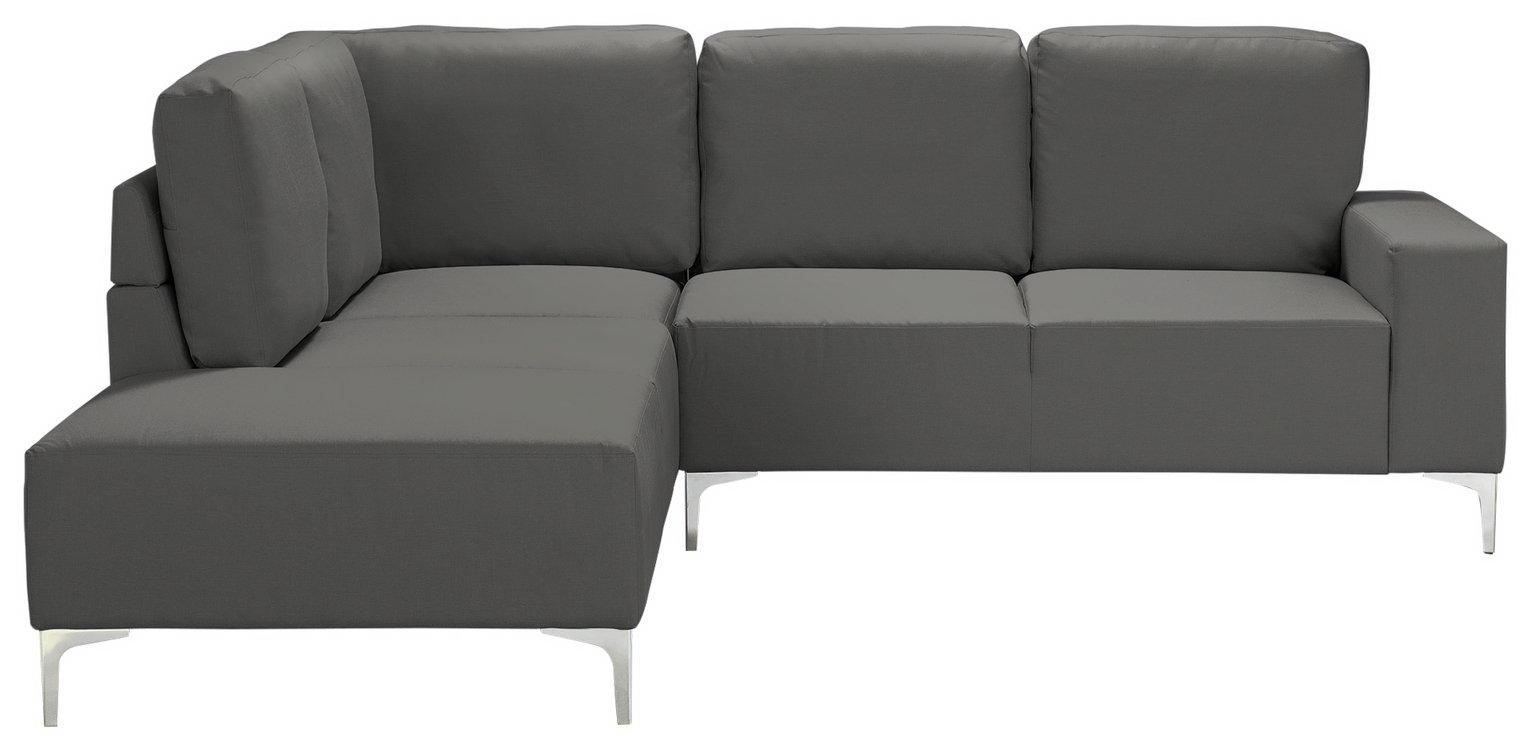 Argos Home Hale Left Corner Fabric Sofa - Charcoal