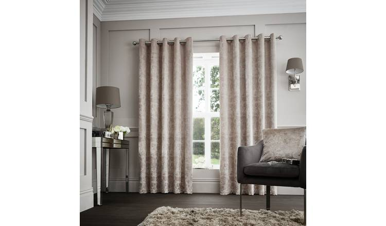 Buy Curtina Downton Lined Curtains 168x137cm Mink Curtains Argos