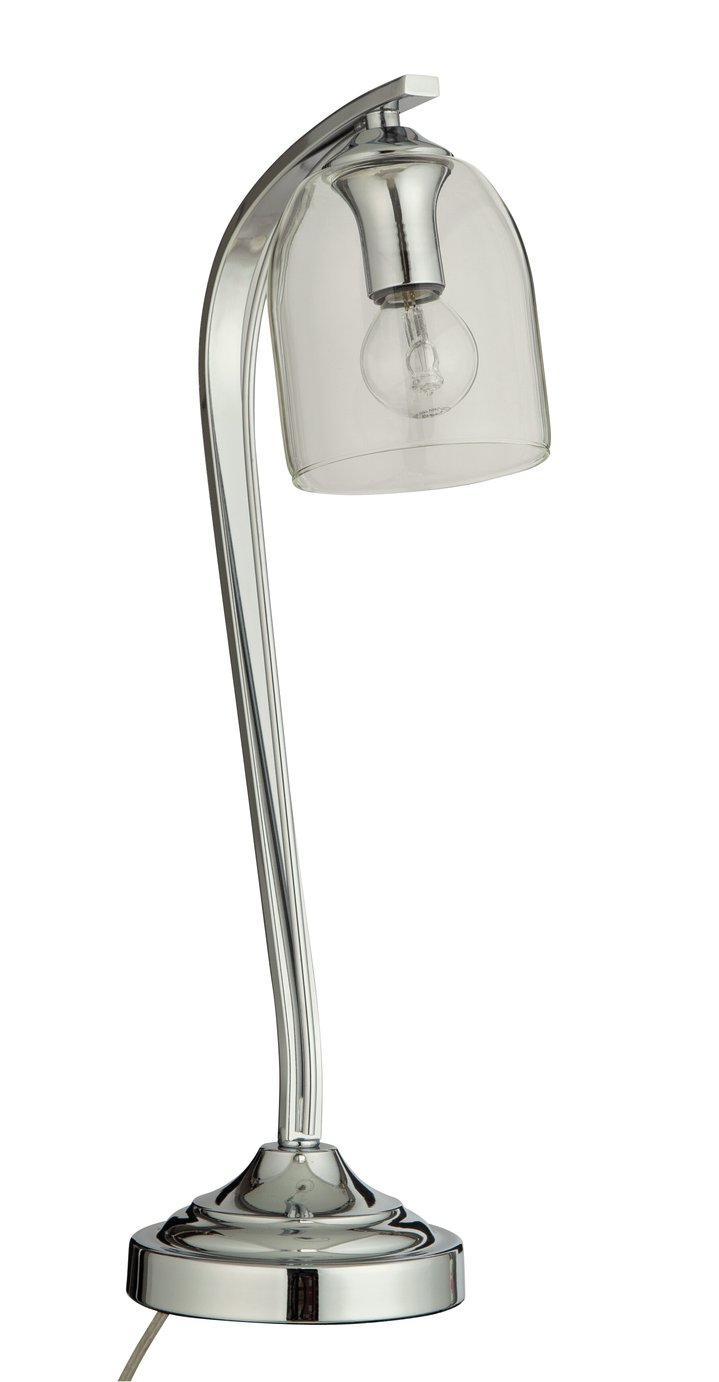 Argos Home Fae Touch Table Lamp - Glass