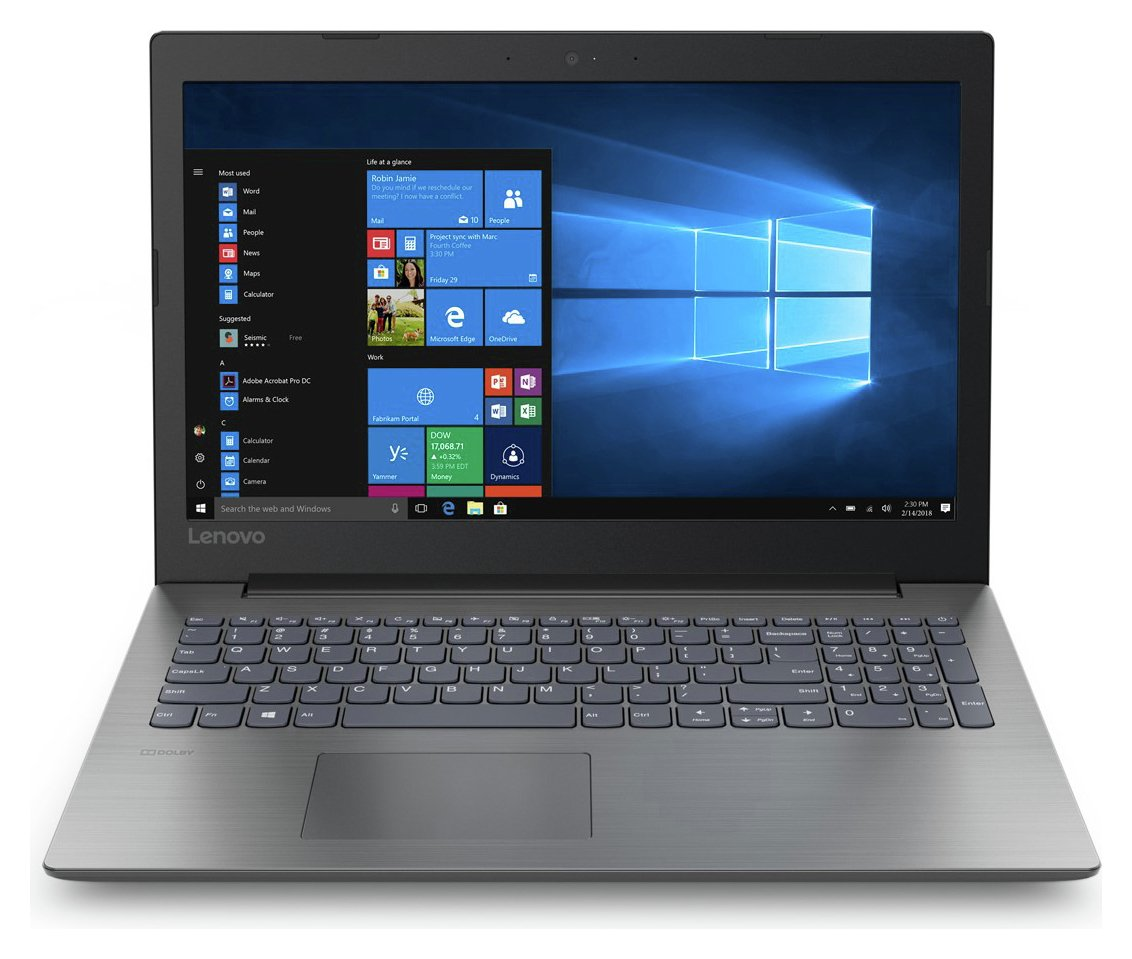 Lenovo Ideapad 330 15.6 Inch i3 4GB 1TB Laptop - Black