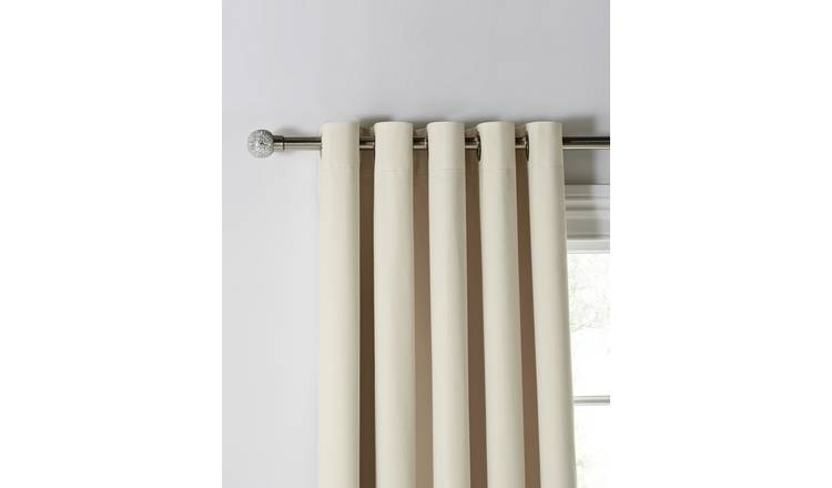 Buy Argos Home Blackout Eyelet Curtains Cream Curtains Argos