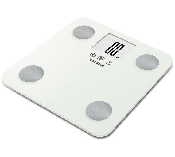 buy salter max body analyser scale - white | bathroom scales | argos