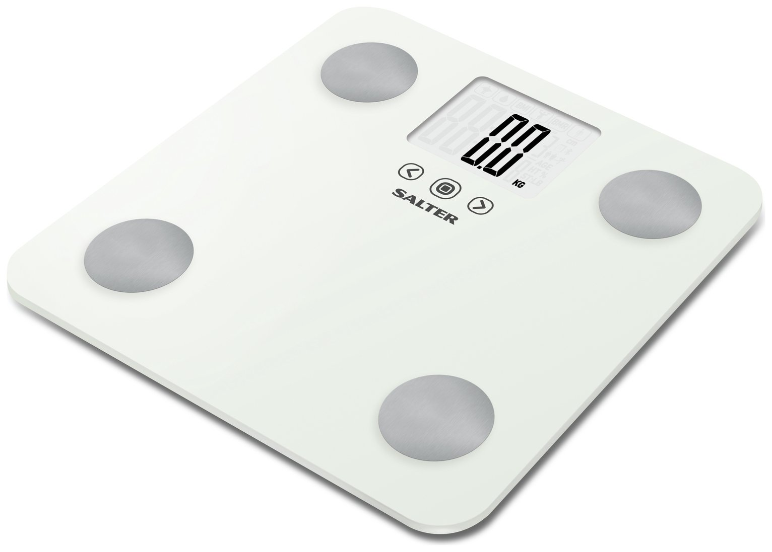 buy salter max body analyser scale - white | bathroom scales | argos