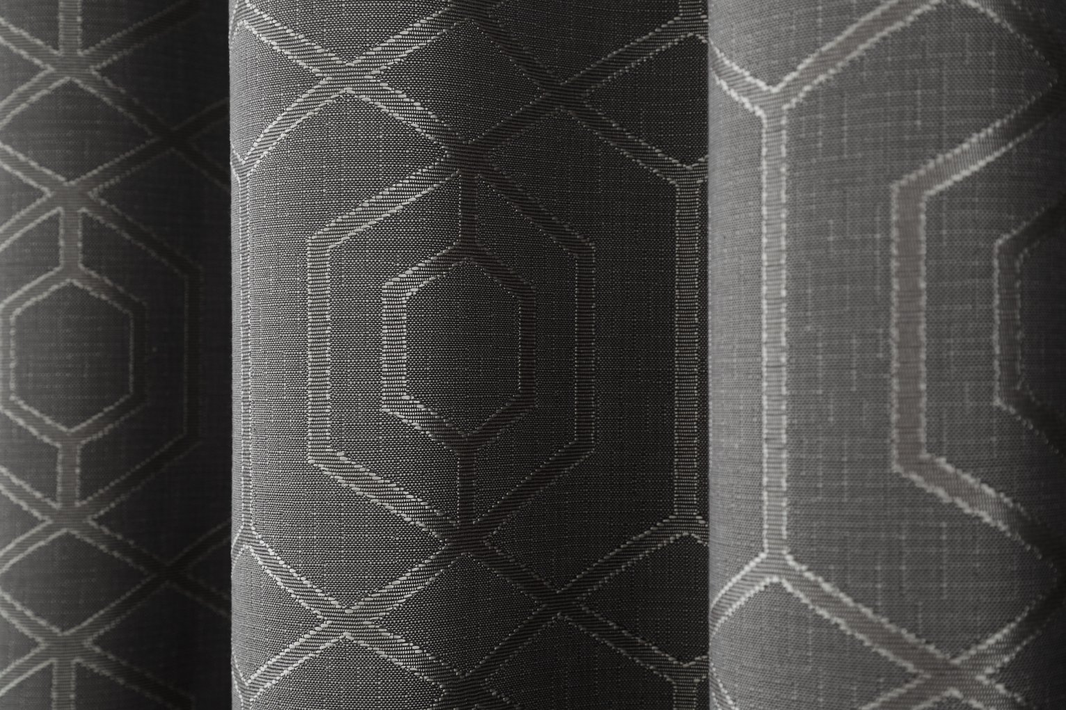 Curtina Camberwell Eyelet Curtains - 229x229cm - Graphite