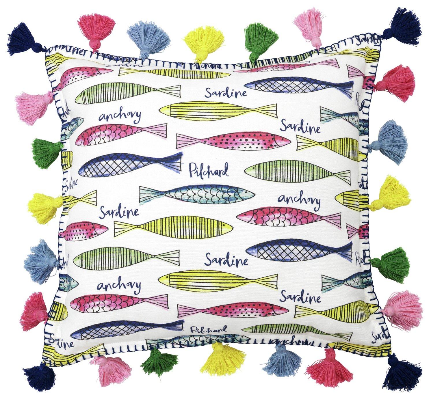 Sainsbury's Home Fish Tassel Cushion