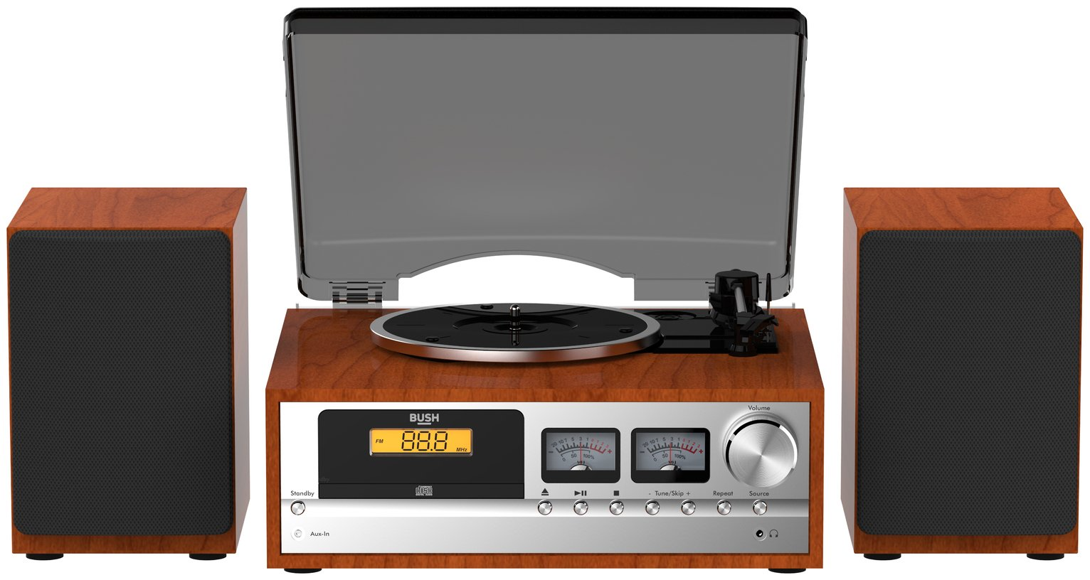 Bush Classic Micro Combo Record Player - Wood / Black