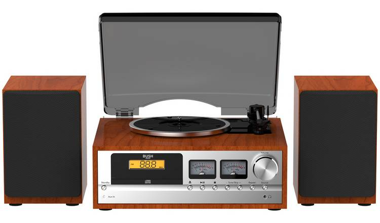 Bush Classic Micro Combo Record Player - Wood / Black