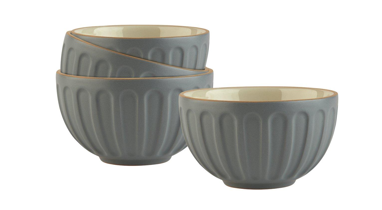 Sainsbury's Home Ceramic Prep Bowls - Grey