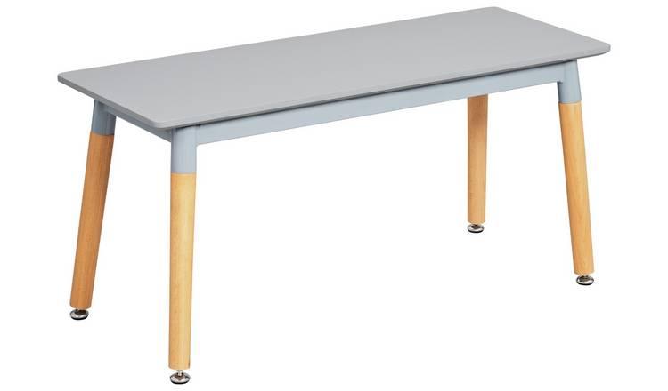 Buy Argos Home Charlie Metal 90cm Bench Grey Dining Chairs Argos