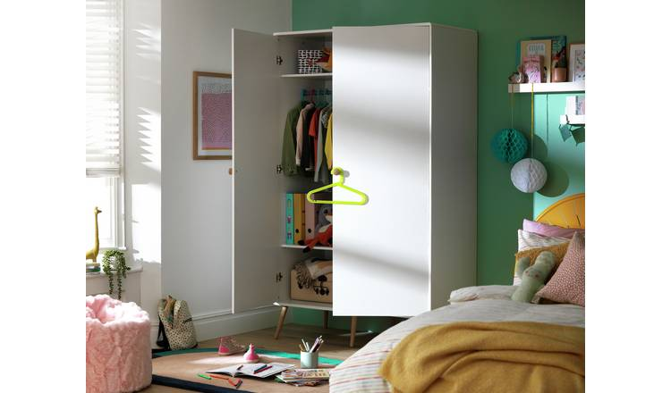 Argos Home Bodie 2 Door Tall Wardrobe - White
