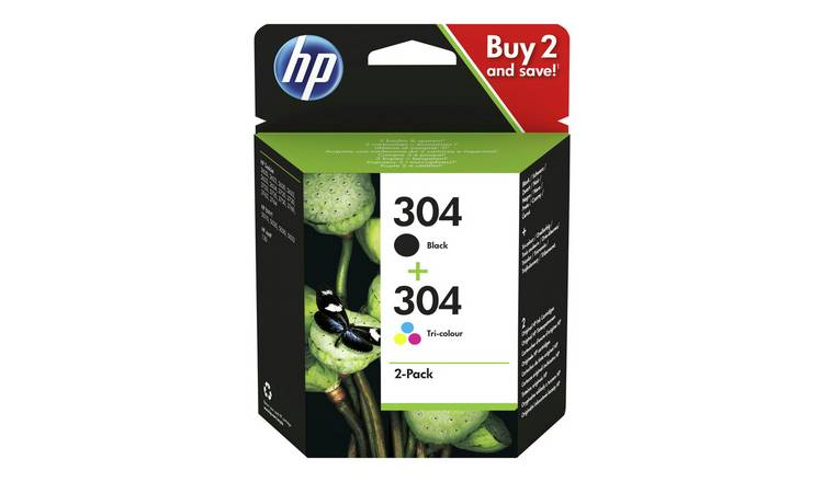 HP 304 Original Ink Cartridges - Black & Colour