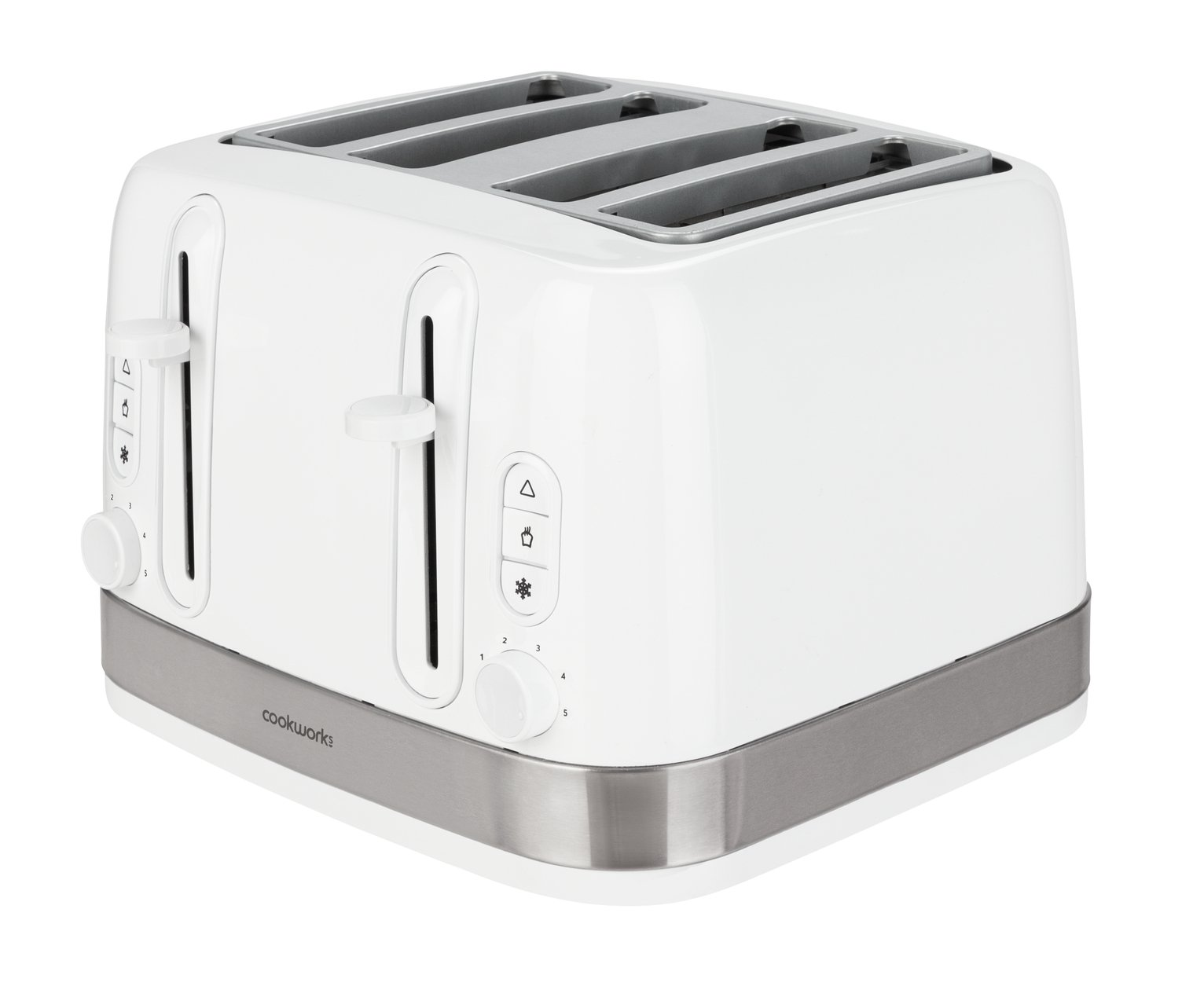 Cookworks Illuminated 4 Slice Toaster - White