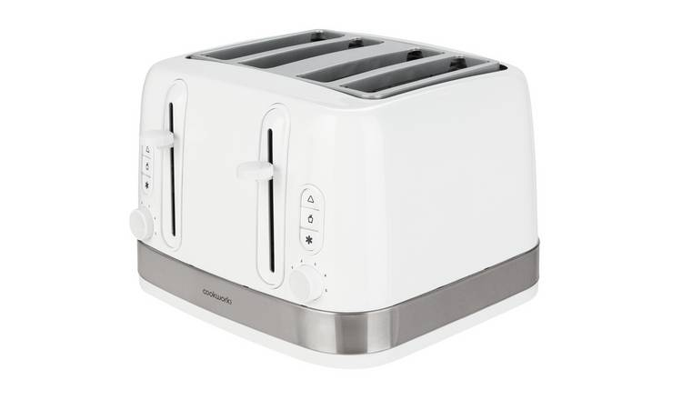 Cookworks Illuminated 4 Slice Toaster - White