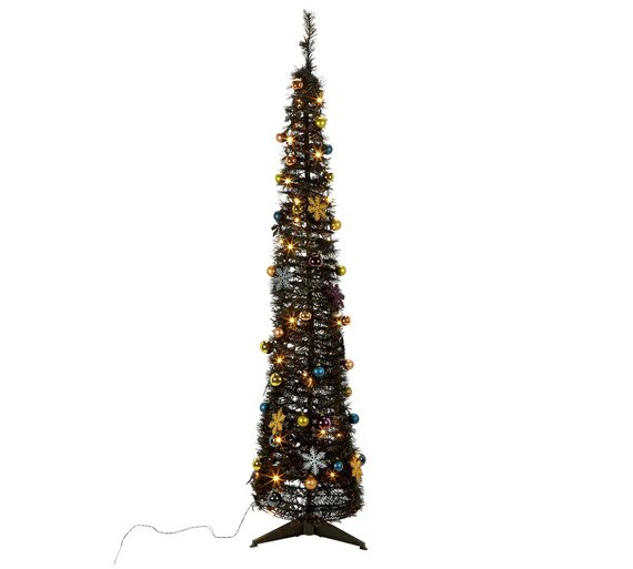Argos Home Pop Up Midwinter's Eve Christmas Tree - Black - Buy Argos Home Pop Up Midwinter's Eve Christmas Tree - Black