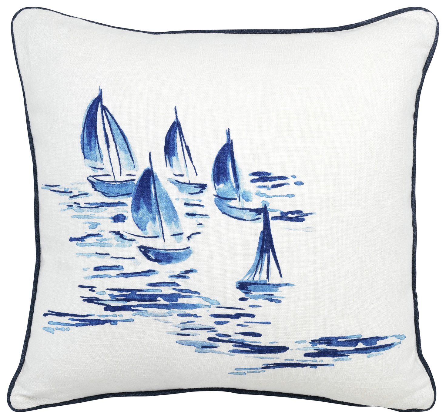 Sainsbury's Home Riviera Boat Printed Cushion