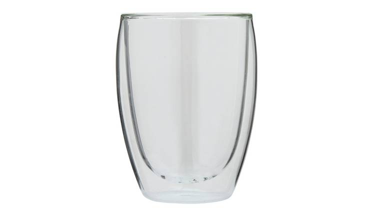 Large Double Wall Glass Coffee Mugs with Handle Set of 2 Insulated Tea Glass Cups of 12 oz 350 ml