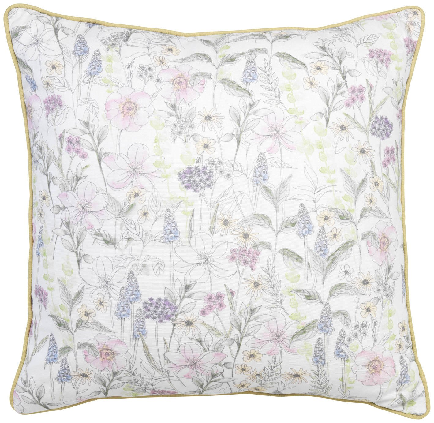 Sainsbury's Home Meadow Floral Printed Cushion