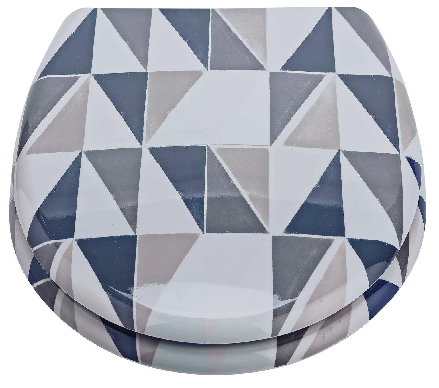 Argos Home Geo Toilet Seat - White