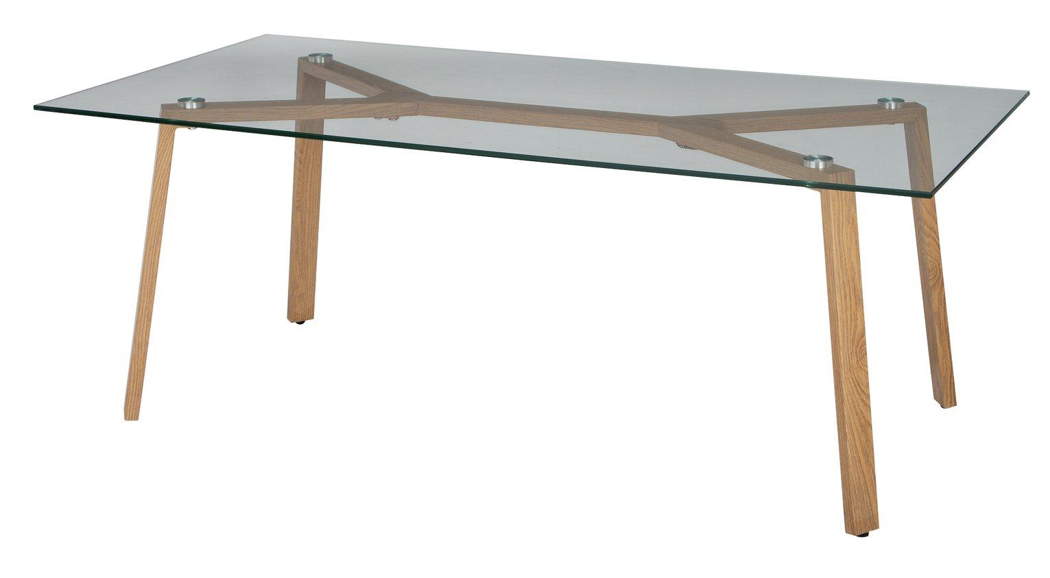 Argos Home Helena Coffee Table - Glass and Oak Effect