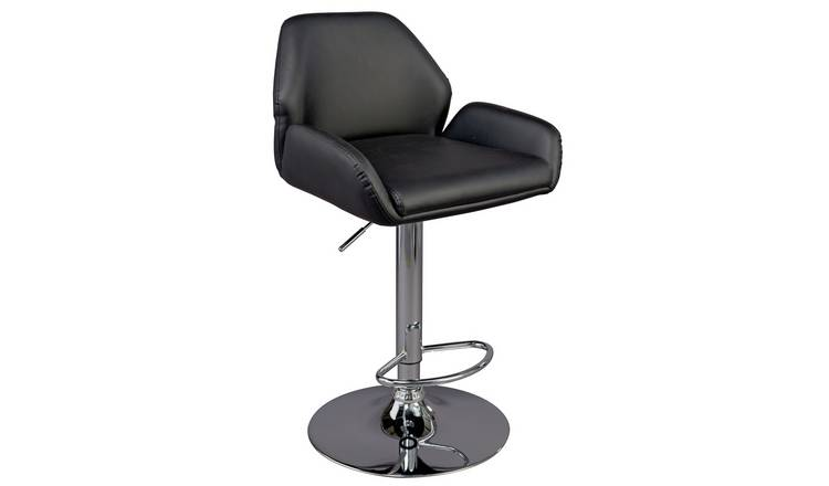Buy Argos Home Barber Gas Lift Barstool Black Bar