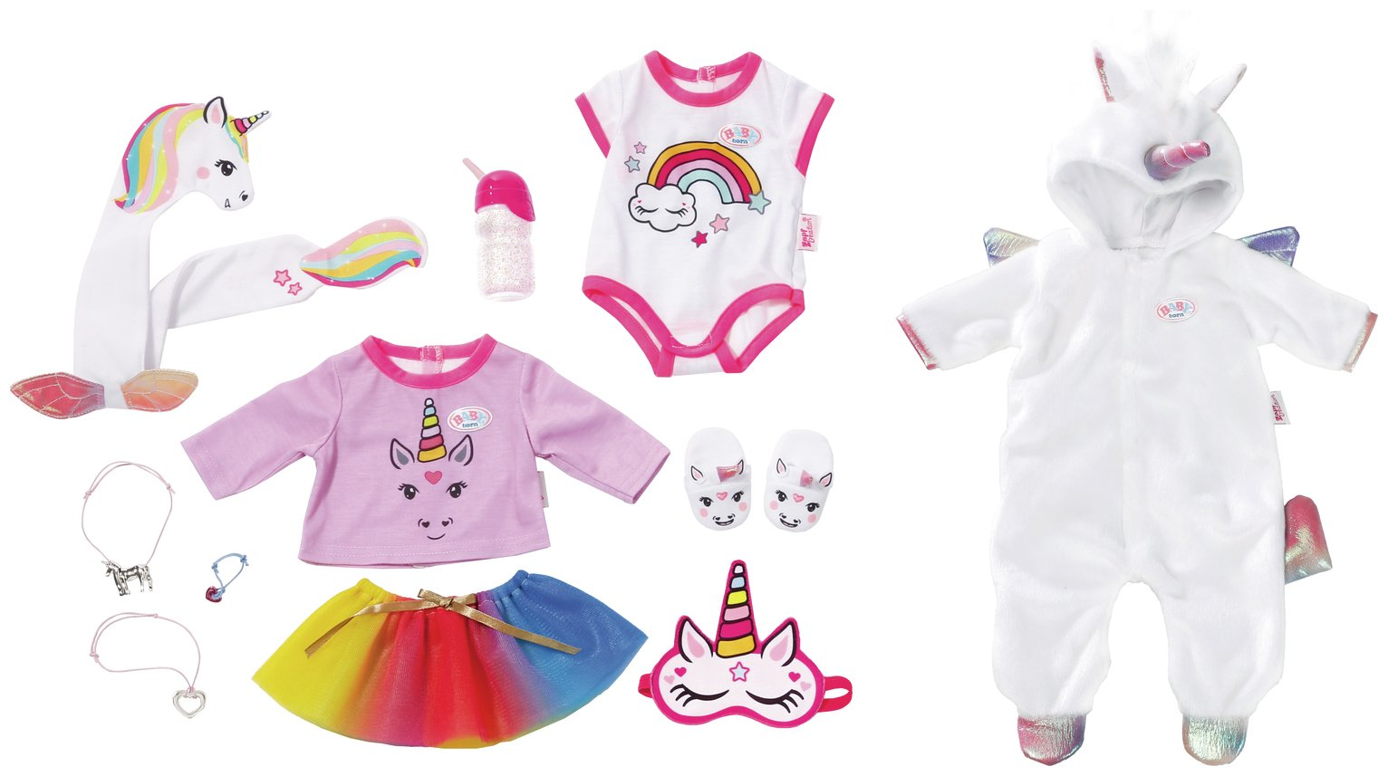 Zeer Buy BABY Born Unicorn Onesie and Accessory Set | Doll clothes | Argos #JQ22