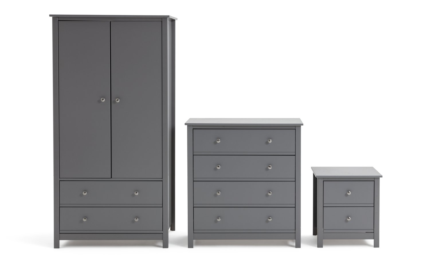 Buy Argos Home Brooklyn Grey 3 Piece Tall Bedroom Package Bedroom