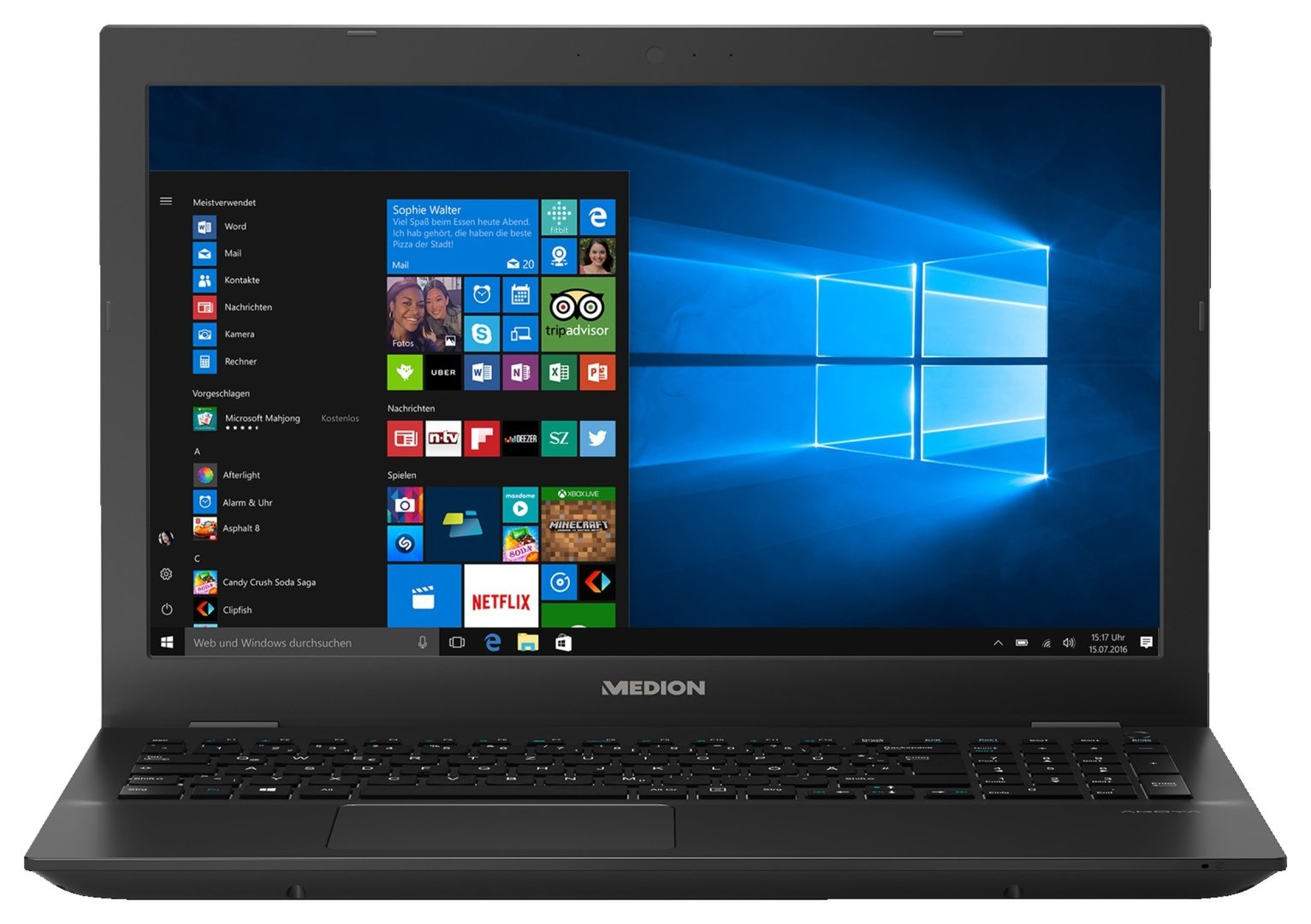 Medion Akoya P6685 15.6 In i5 8GB 1TB MX150 Gaming Laptop