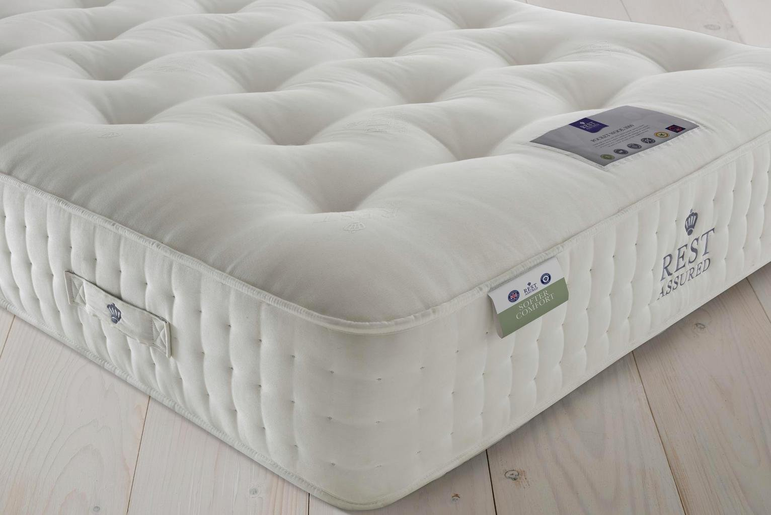 Rest Assured Naturals Pkt Sprung Kingsize Mattress - Softer