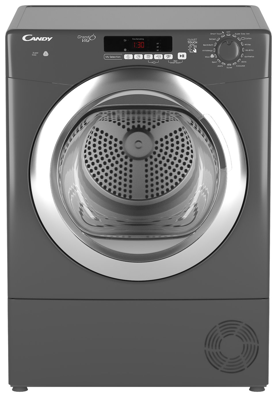 Candy GVSC10DCGR 10KG Condenser Tumble Dryer - Graphite