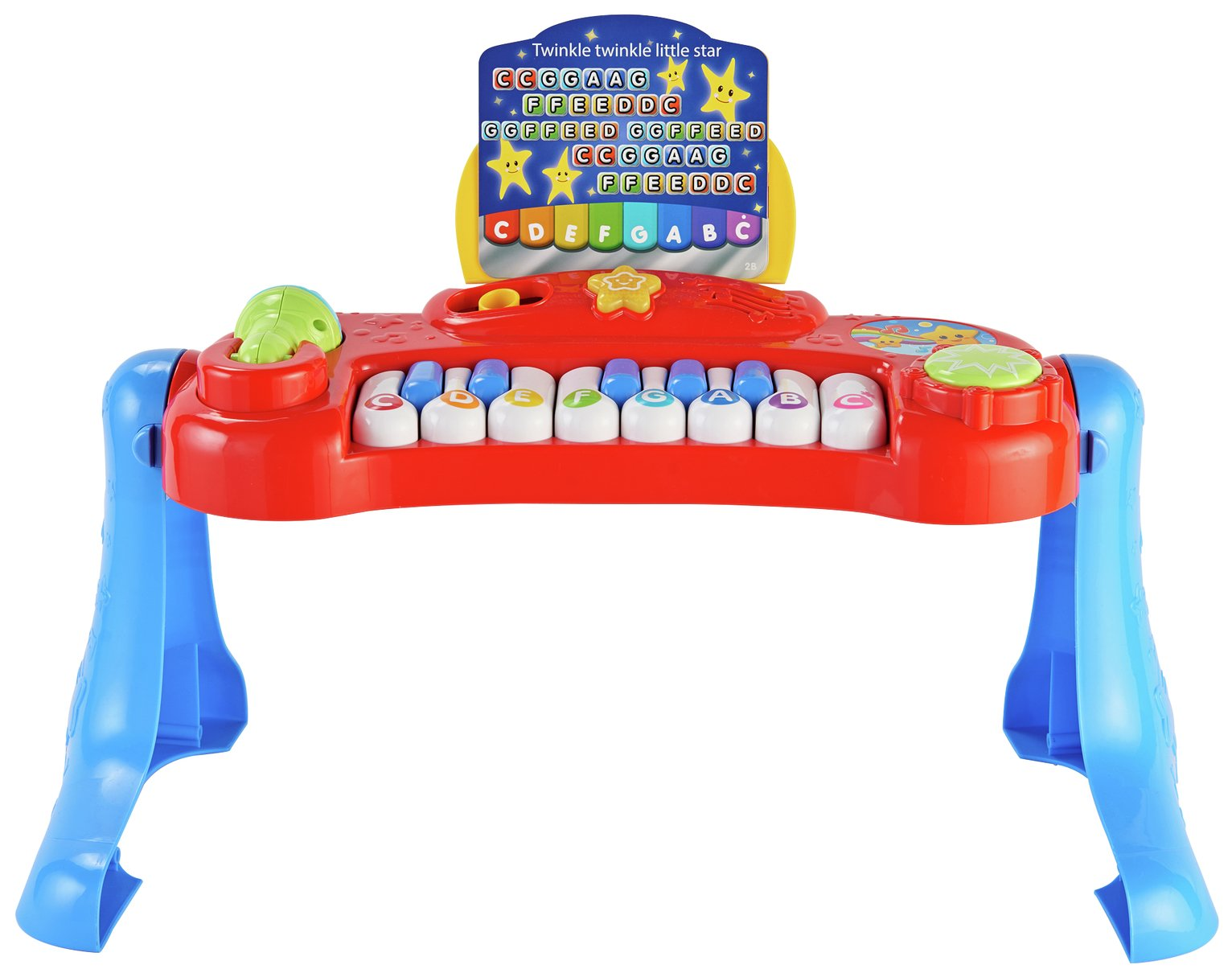 Chad Valley Sing Along Keyboard Stand And Stool Red