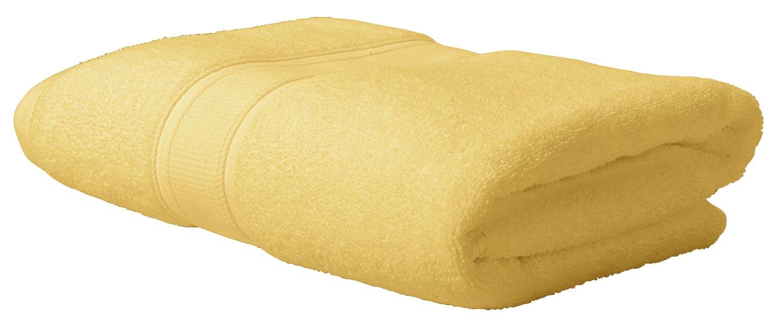 Argos Home Super Soft Bath Towel - Mustard