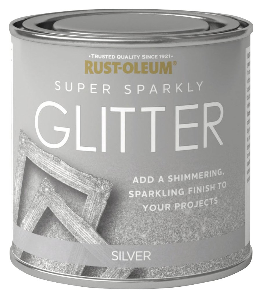 Rust-Oleum Super Sparkly 250ml Glitter Paint - Silver
